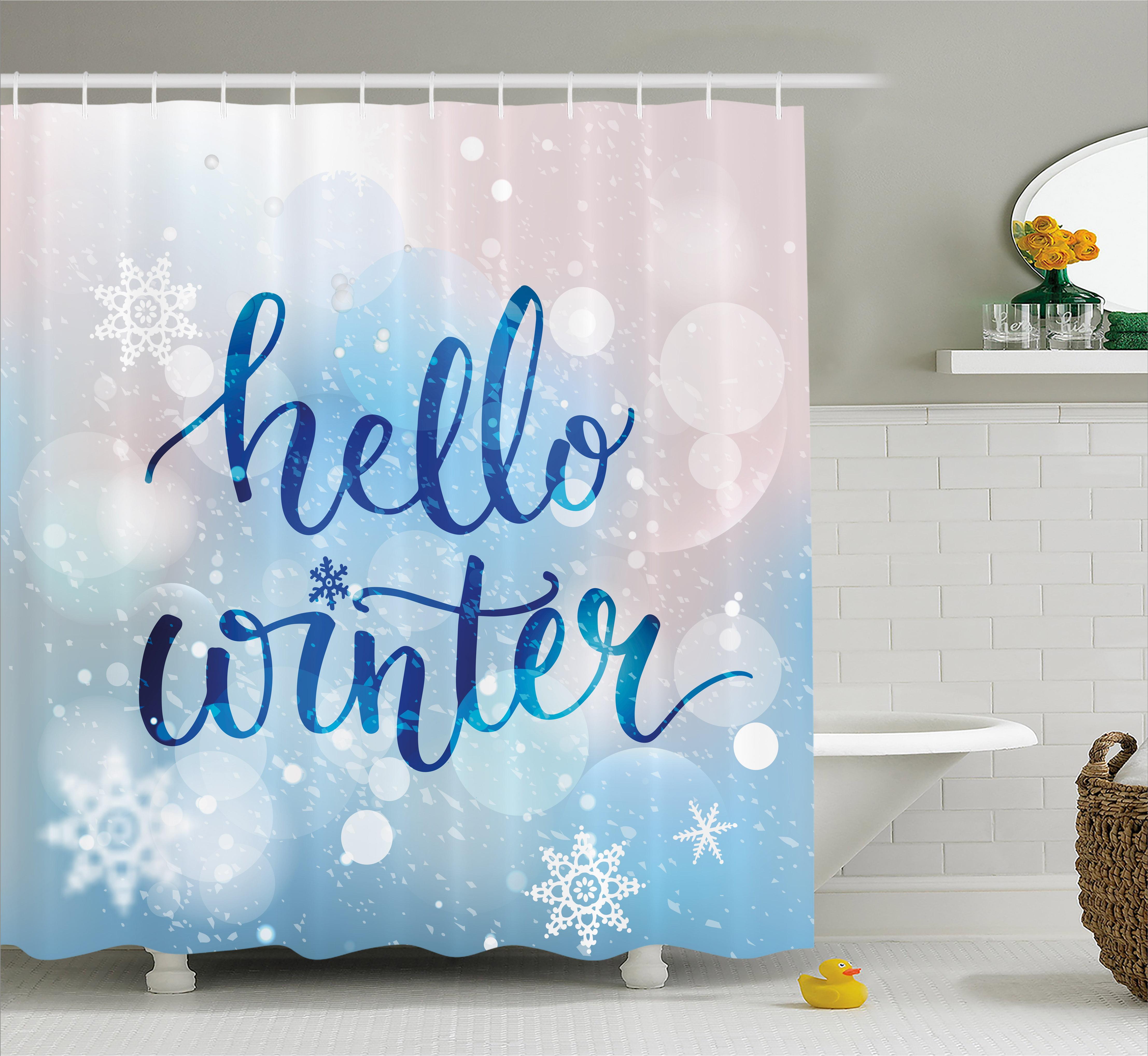 Colorful Vibrant Bokeh Fabric Shower Curtain Set Waterproof