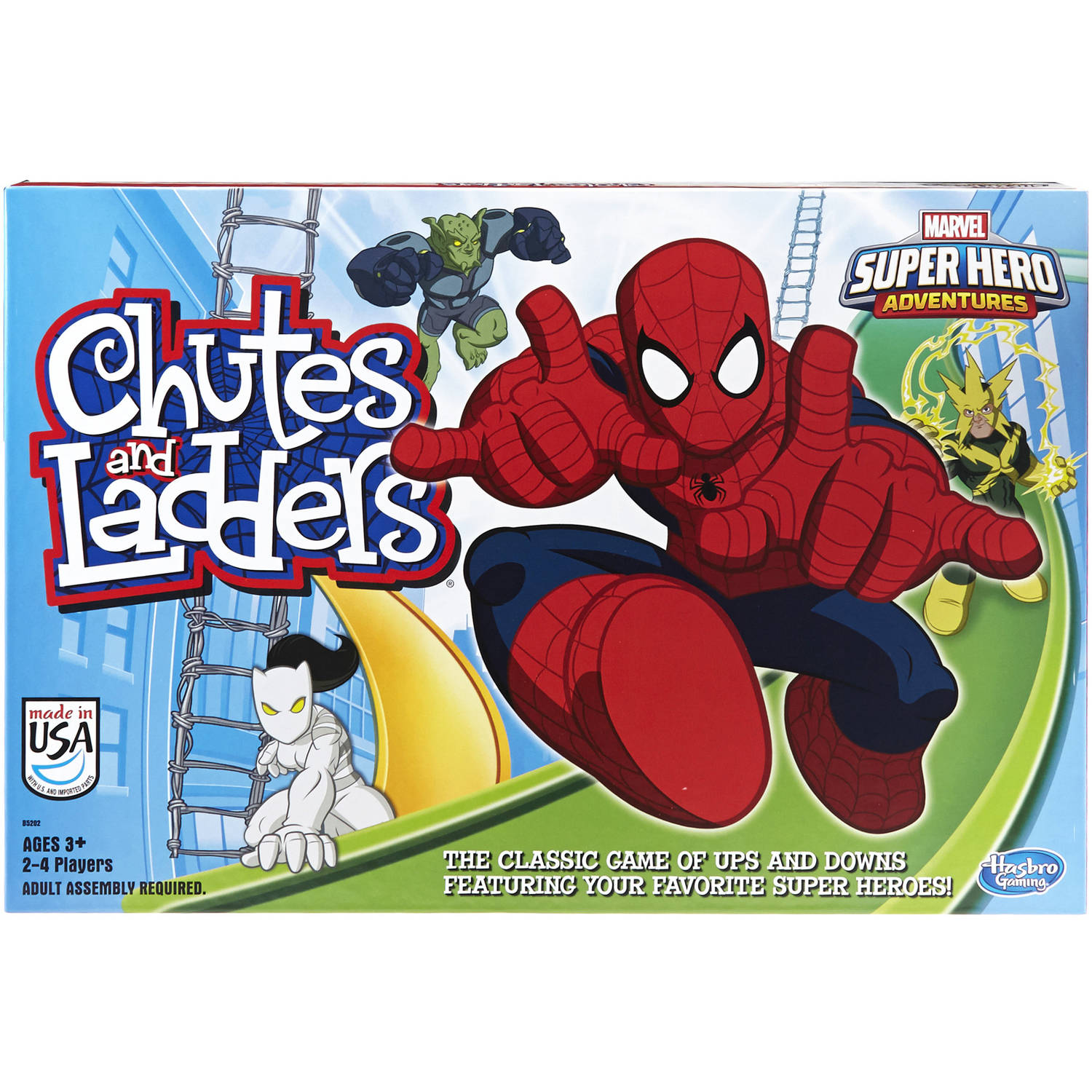 Marvel Spider-Man Chutes and Ladders Web Warriors Game