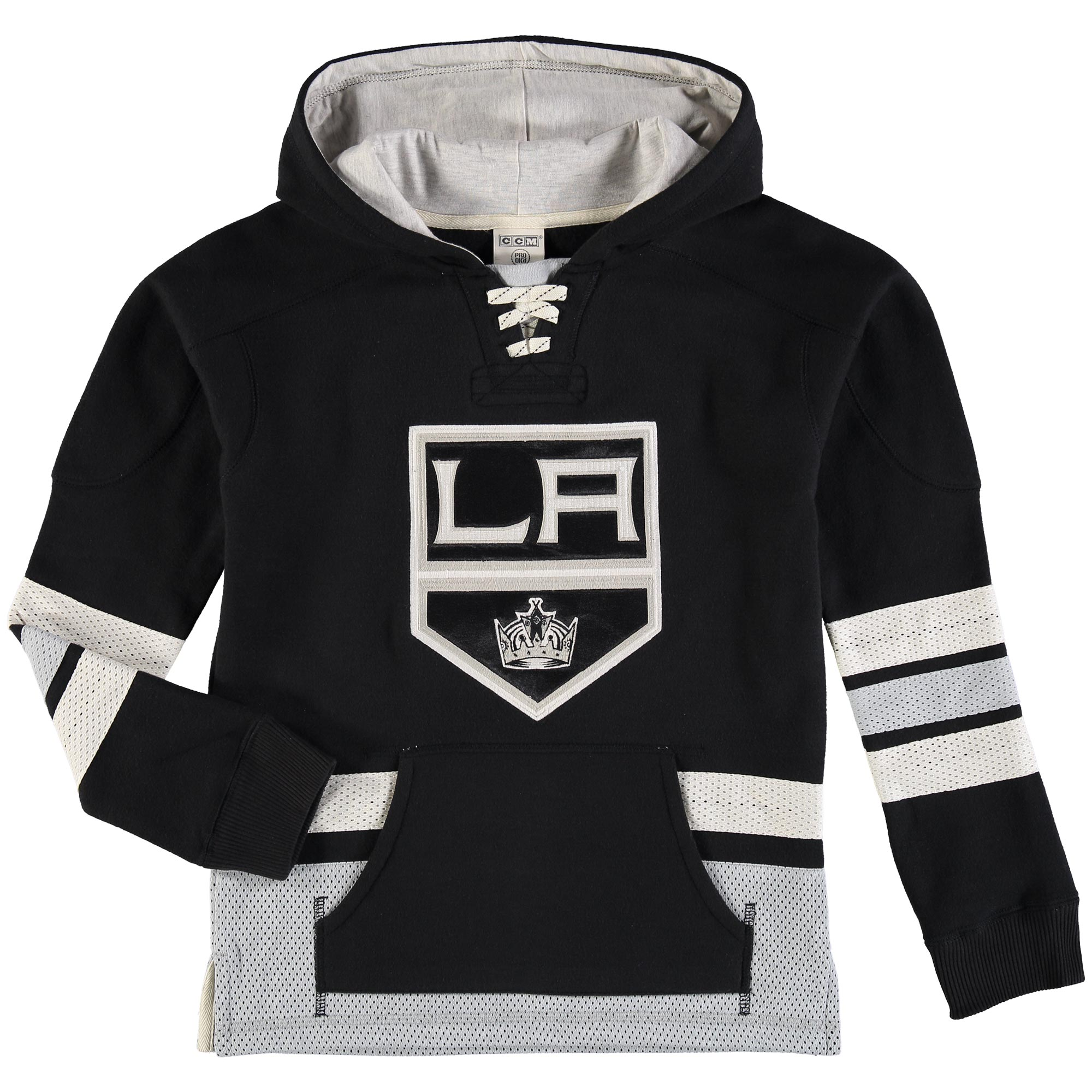 Los Angeles Kings Reebok Youth Retro Skate Hoodie Black by Outerstuff