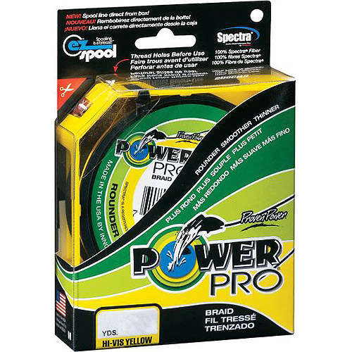 PowerPro Braided Fishing Line, Yellow, 500 yd
