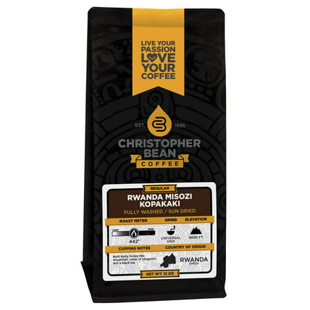- Rwanda Misozi Kopakaki Regular Non Flavored Ground Coffee, 12 Ounce Bag