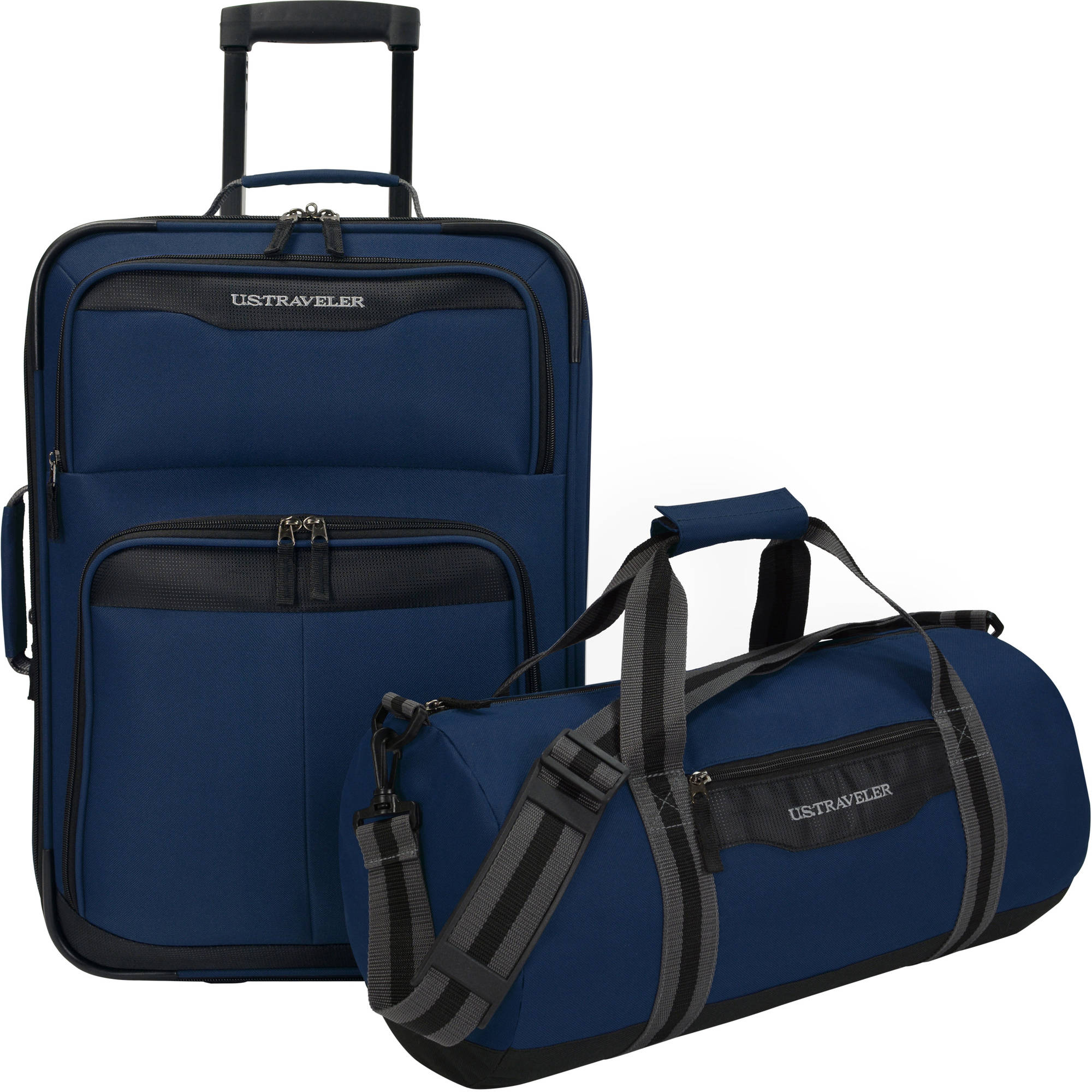 U.S. Traveler Hillstar 2-Piece Casual Luggage Set