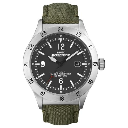 Timex Men's Expedition Military Field Watch, Green Nylon Strap