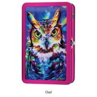 Find It Tin Pencil Box 3D Assortment (Owl, Raptors, Sharks, Unicorn)