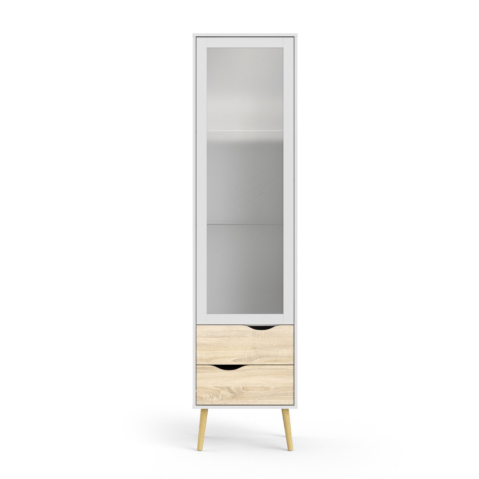 Tvilum Diana 2 Drawer China Cabinet with Glass Door by Tvilum
