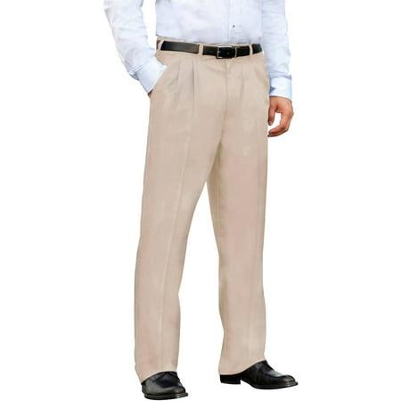 (George Men's Pleated Front Wrinkle Resistant Pants)