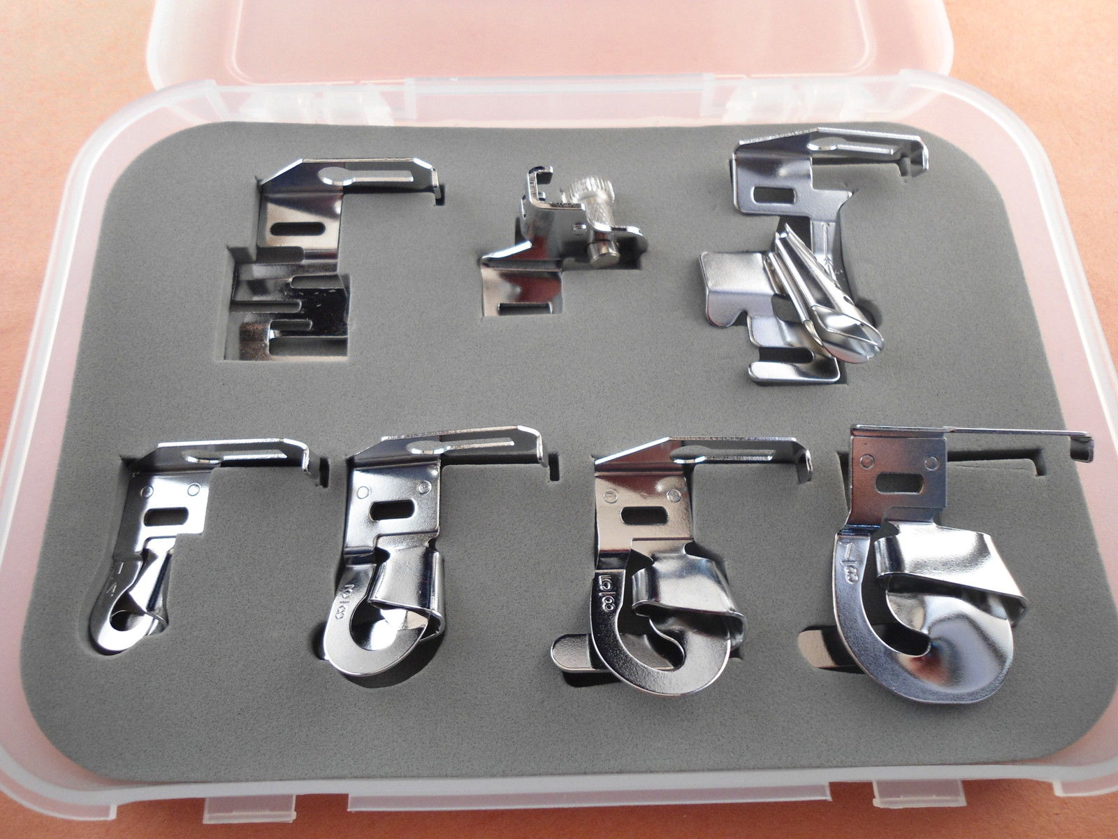 7 Pc Special Hemmer And Binder Foot Set For Low Shank Sewing Machines