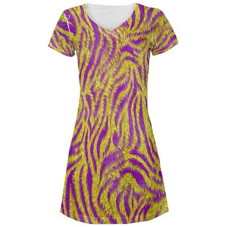 Mardi Gras Cajun Tiger Costume All Over Juniors Beach Cover-Up - Mardi Gras Dress Up Ideas