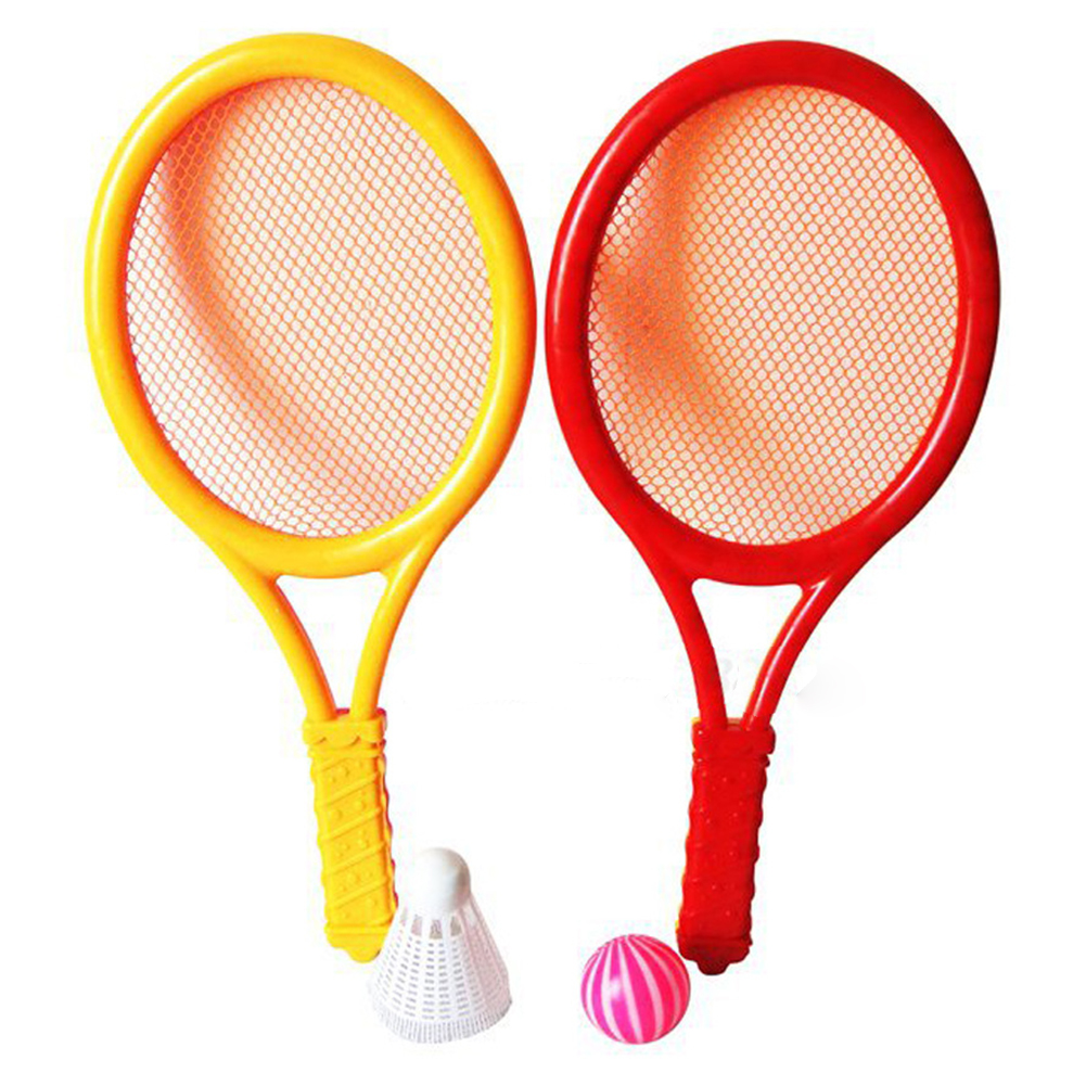 Redcolourful Plastic Rackets Set Tennis Racquets Battledores with Tennis and Badminton... by