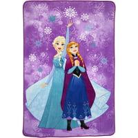 Disney Frozen Plush Blanket, Kids Bedding, 62?x90?, Purple, Elsa and Anna