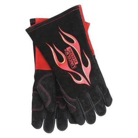 "LINCOLN ELECTRIC Welding Gloves,MIG/Stick,13-3/4"",2XL,PR KH783"