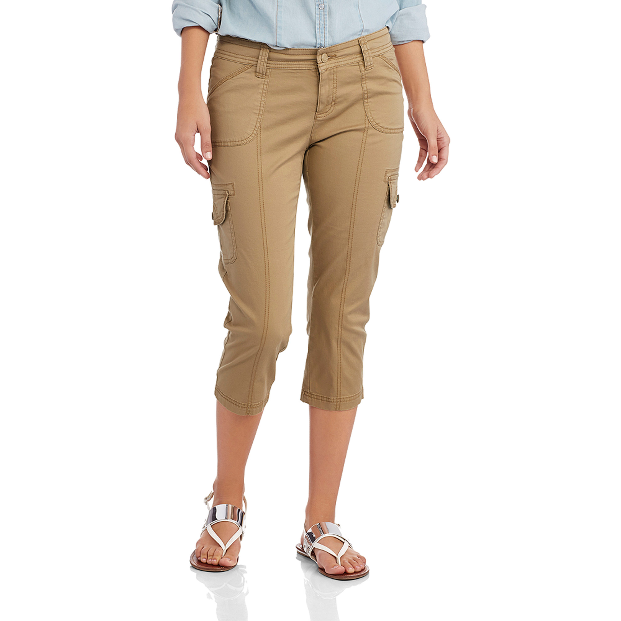 Faded Glory Women's Cargo Capri Pants - Walmart.com