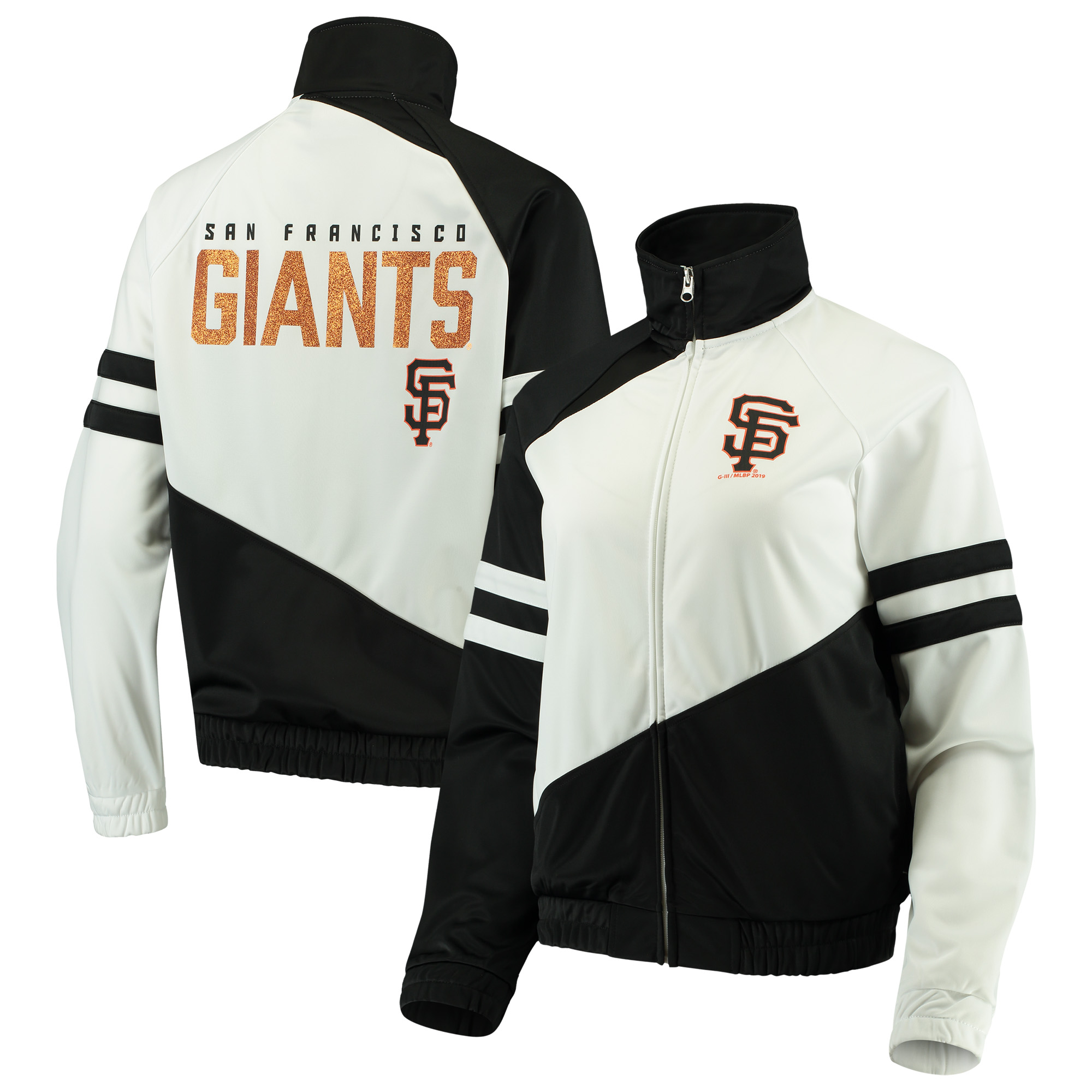 San Francisco Giants G-III 4Her by Carl Banks Women's Perfect Pitch Track Jacket - Black/White