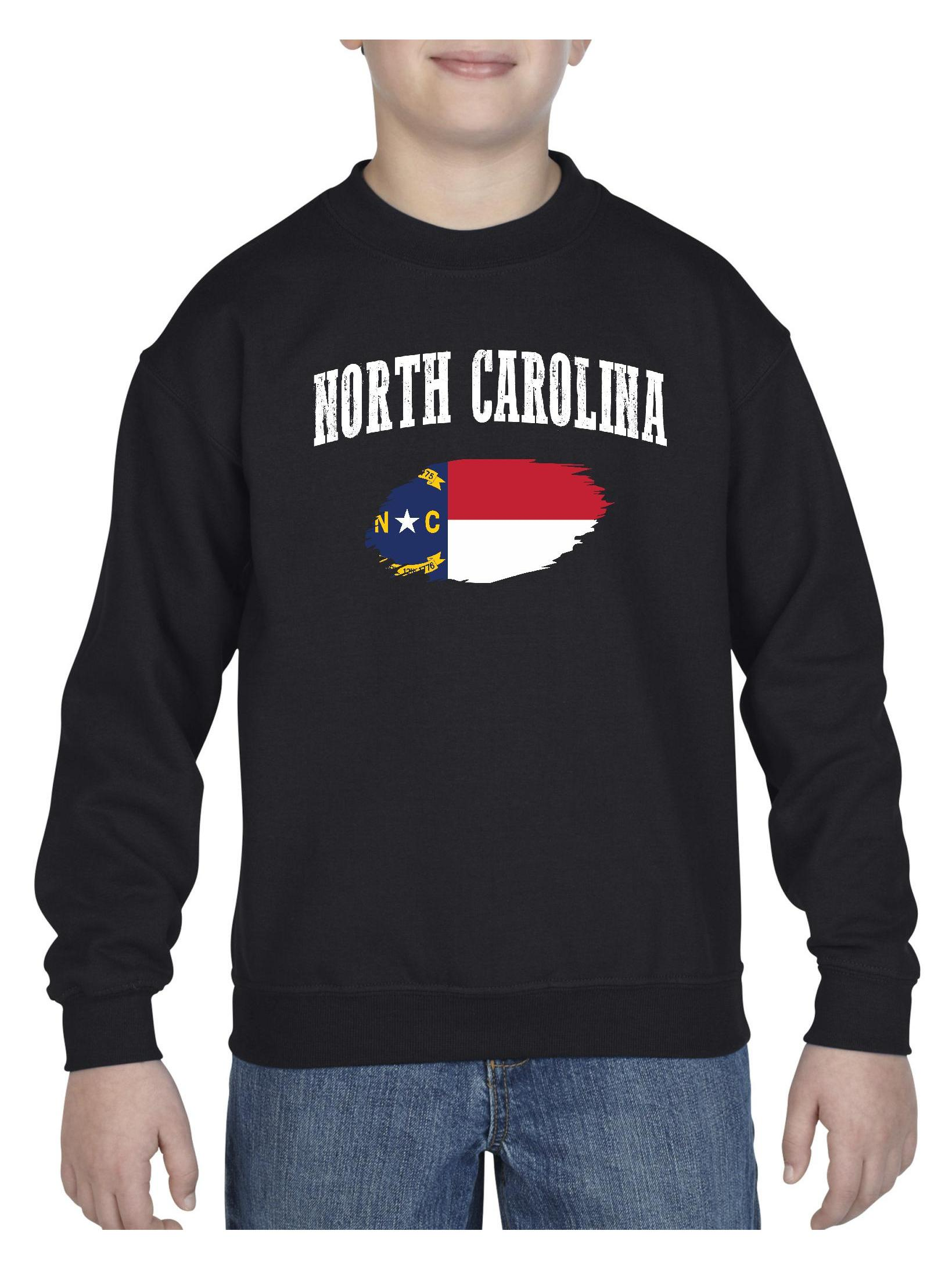 North Carolina State Flag Unisex Youth Crewneck Sweatshirt