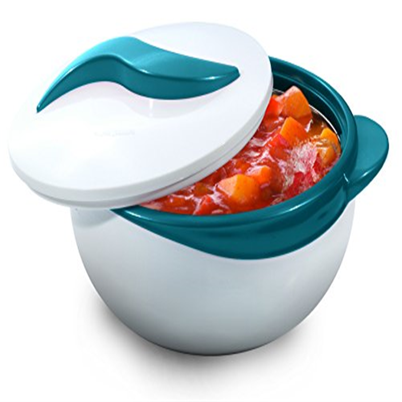 Pinnacle Turquoise Serving Salad/ Soup Dish Bowl - Thermal Insulated Bowl with Lid -Great Bowl for Holiday, Dinner and Party 2.5 qt.