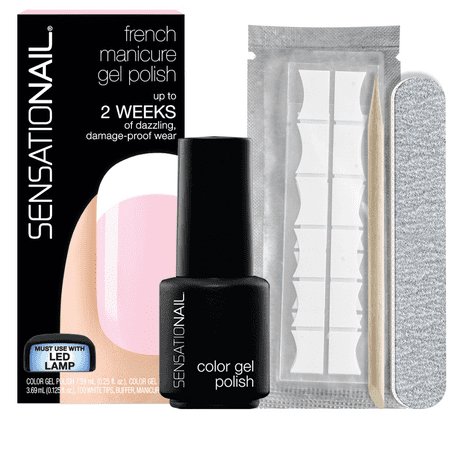 SensatioNail French Manicure Gel Nail Polish Kit,