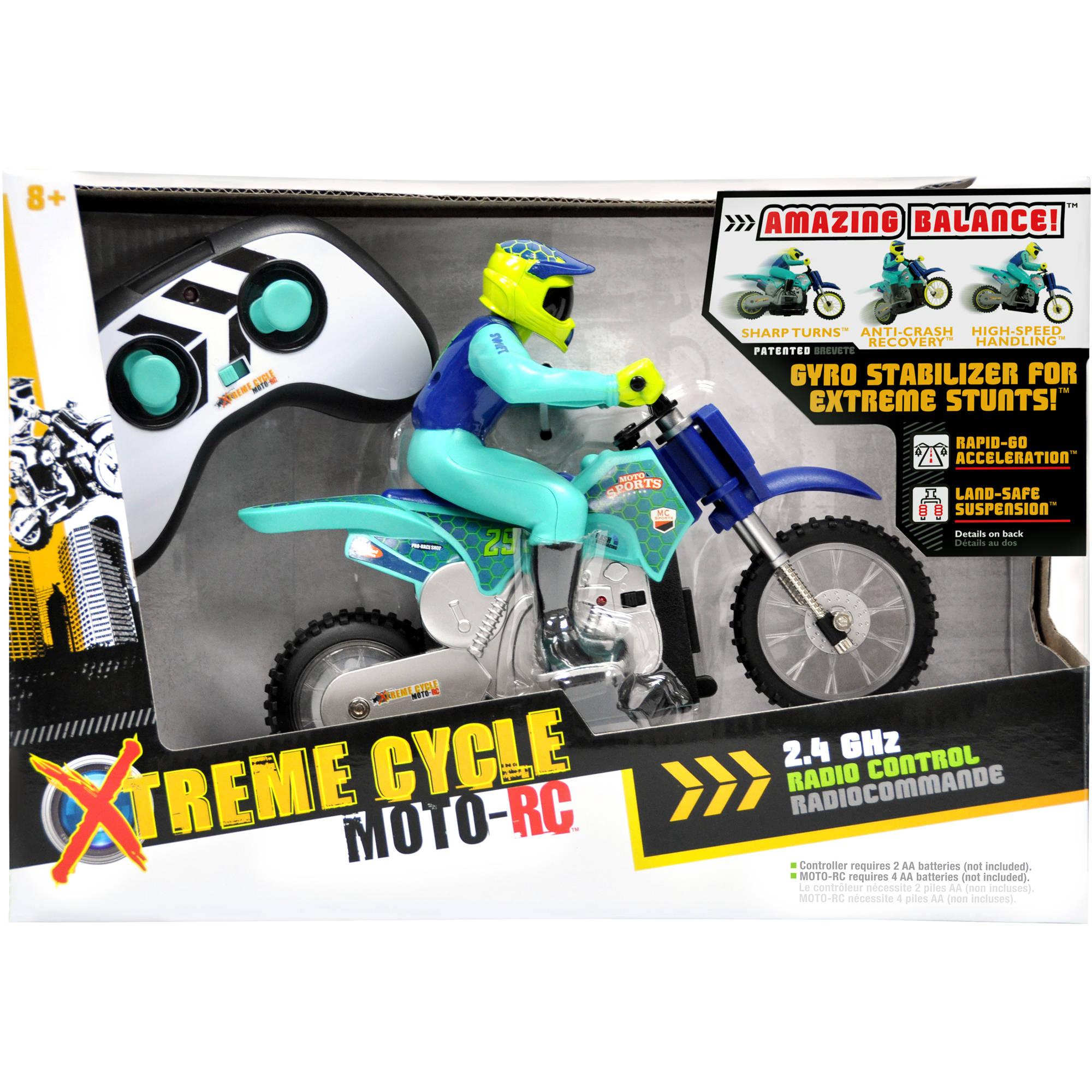 xtreme cycle moto-rc, red