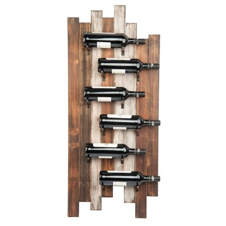 Gracie Oaks Wiltz Staggered 6 Bottle Wall Mounted Wine Rack