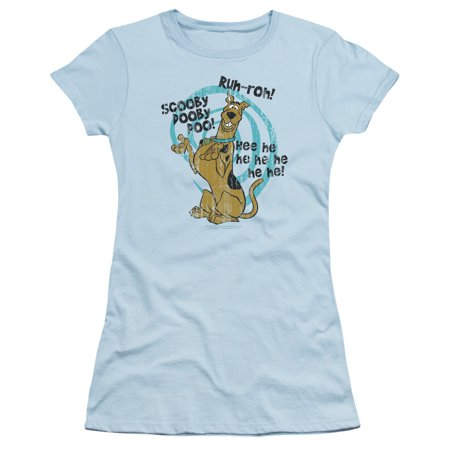 Scooby Doo - Quoted - Juniors Teen Girls Cap Sleeve Shirt - Small
