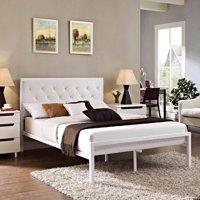 Modway Mia Full Leatherette Platform Bed, Multiple Colors