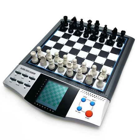Electronic Chess Game (Chess Set Boards Game for Kids, 8 in 1 TALKING CHESS ACADEMY Handheld Games Computer, Talking Electronic Chess Master Pro for)