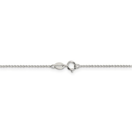 Diamond Cue (Sterling Silver1mm 8 Sided Diamond Cut Cable Chain )