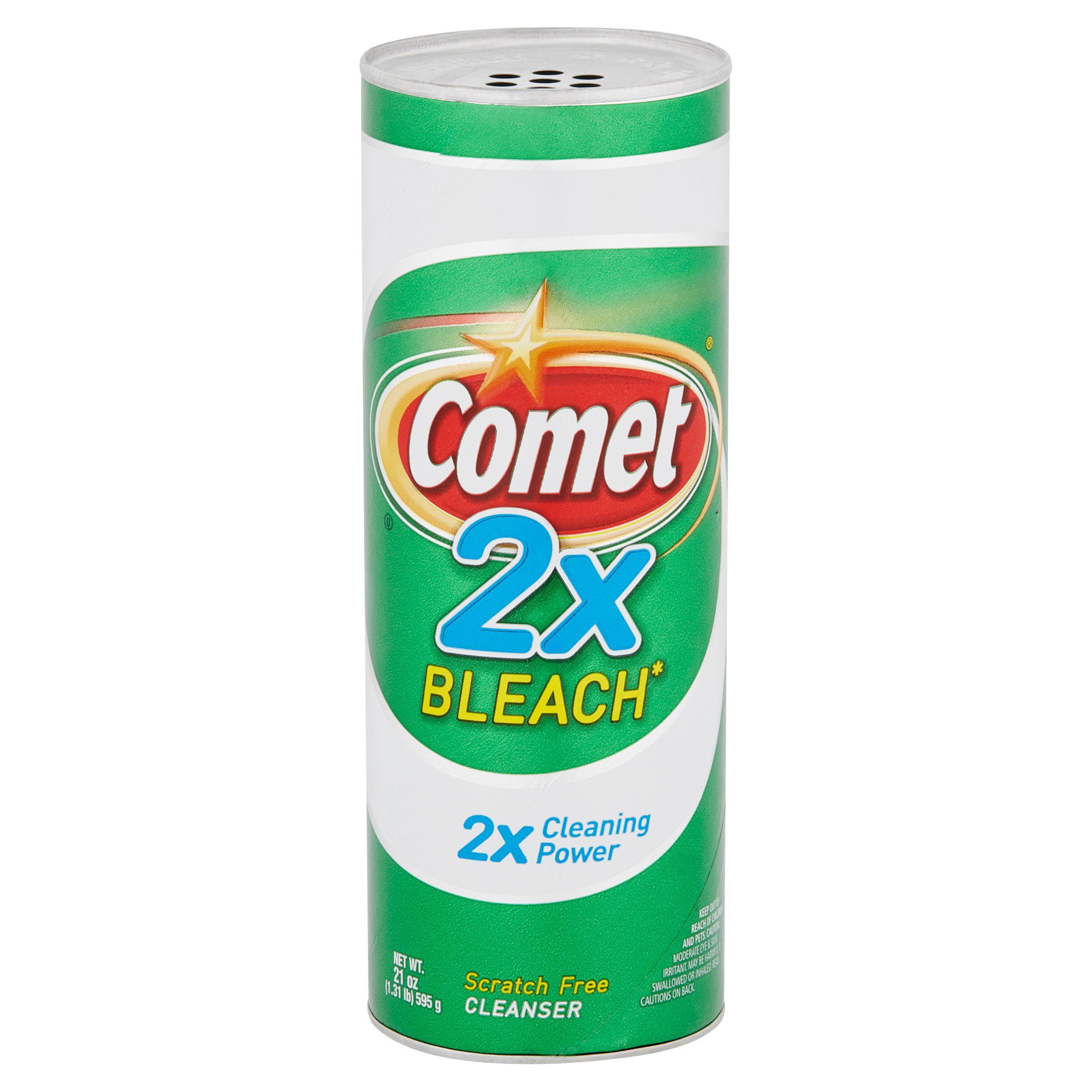 Bleaching powder for cleaning bathroom - Comet 2x Bleach Cleanser 21 Oz