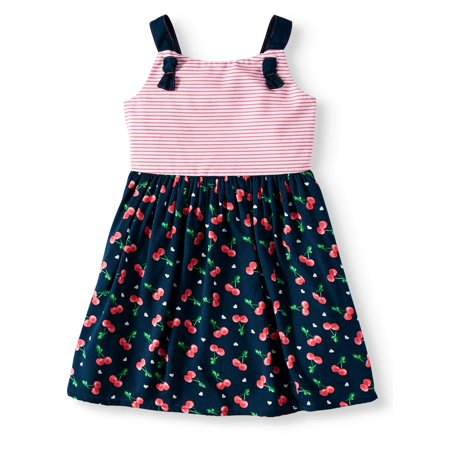 Wonder Nation Cherry Print Woven Dress (Toddler Girls) (Girl Dresses On Sale)
