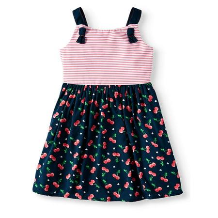 Wonder Nation Cherry Print Woven Dress (Toddler Girls) (5t Christmas Dresses)
