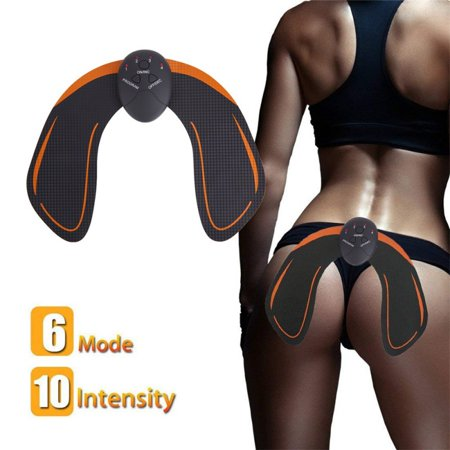 ABS Stimulator Buttocks/Hips Trainer Muscle Toner 6 Modes Smart Fitness Training Gear Home Office Ab Workout Equipment (Best Ab Workout App For Iphone)