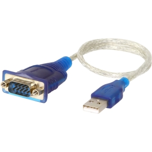 SABRENT USB SERIAL DB9 CABLE 1 PROLIFIC CHIPSET RS-232 1 FT