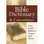 Bible Dictionary & Concordance (Hardcover)