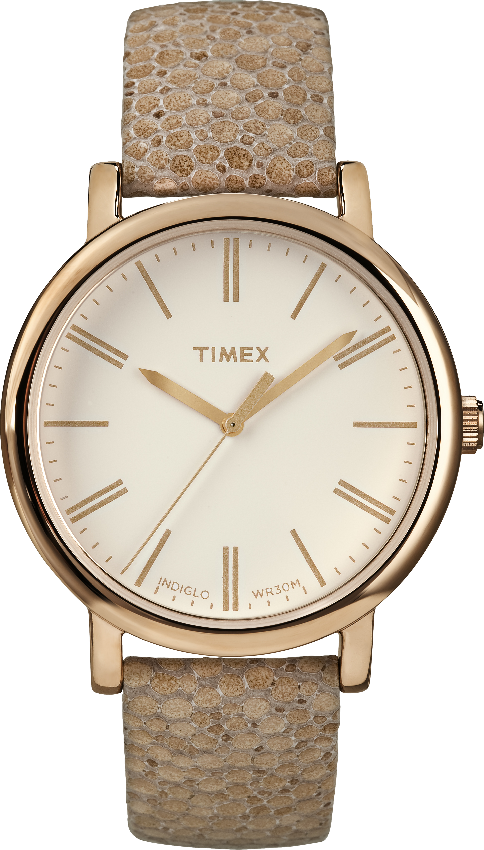 Timex T2P325 Unisex Brown Leather Bracelet With Cream Analog Dial Watch NWT by Timex