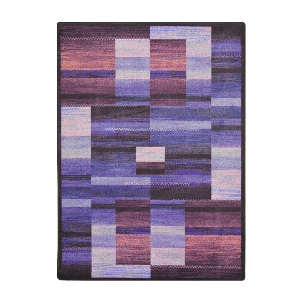 "Joy Rugs Boomblox Machine Tufted - Cut Pile Purple 3'10"" x 5'4"" - Area Rug"