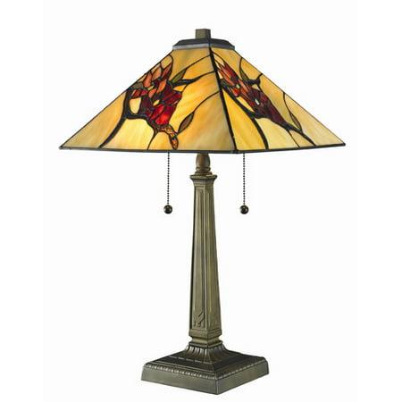 Serena d'italia Tiffany Style Spring Blossom 23 in. Bronze Table Lamp