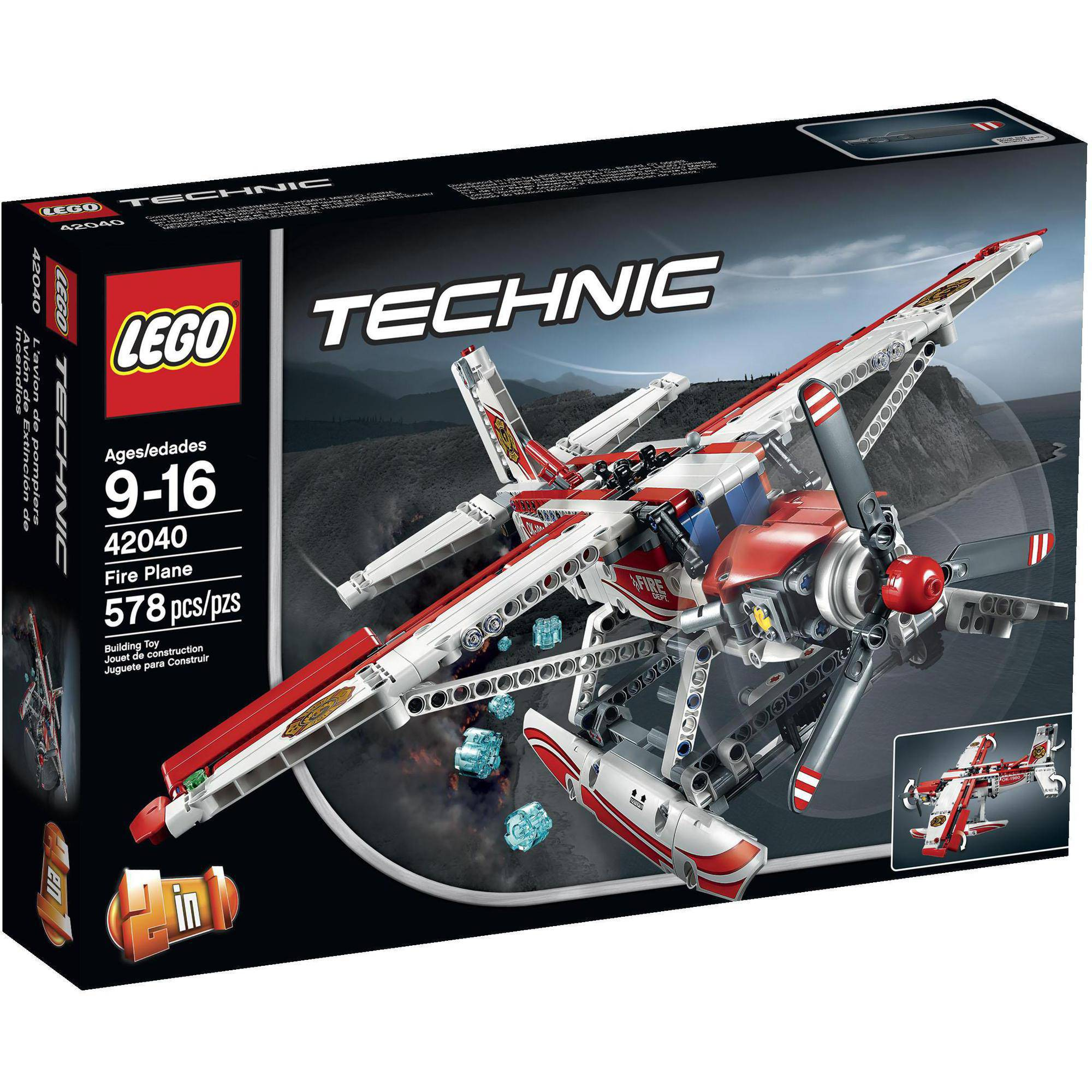 Lego 2-in-1 Technic Fire Plane 42040 by LEGO Systems, Inc.