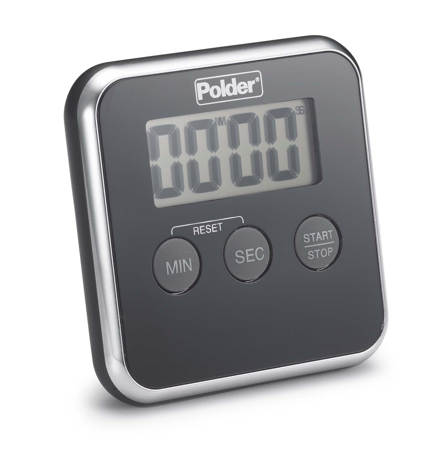 Polder Digital Kitchen Timer, Black