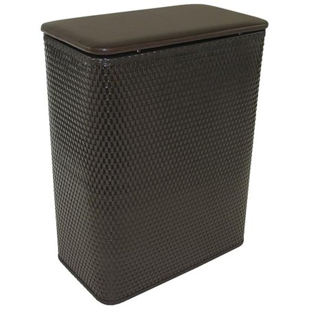 Chelsea Collection Hamper with vinyl lid Espresso - image 1 of 1