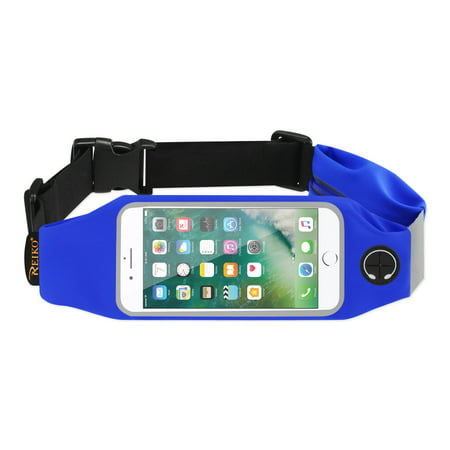 Running Sport Belt For Iphone 7 Plus/ 6s Plus Or 5.5 Inches Device With Two Pockets In Blue (5.5x5.5 Inches) (Running Belt Iphone)
