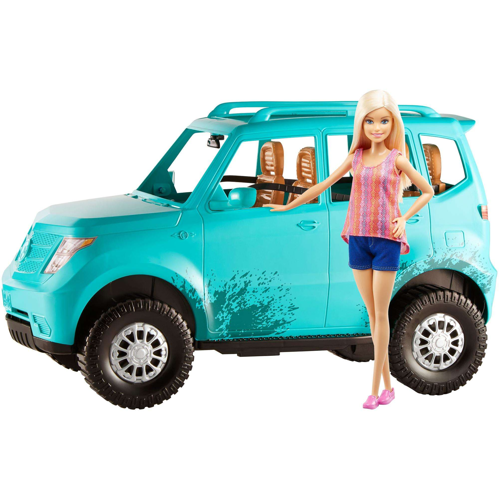 Barbie Camping Fun Doll and Teal Off-Road Adventure Vehicle by MATTEL BRANDS A DIVISION OF MATTEL DIRECT IMPORT INC