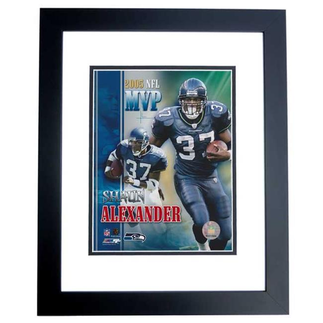 Shaun Alexander Unsigned Seattle Seahawks 8X10 Inch Photo Black Custom Frame