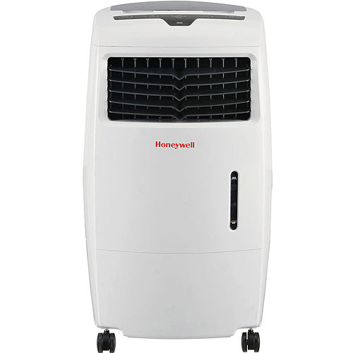 Honeywell CL25AE 500 CFM Indoor Evaporative Air Cooler (Swamp Cooler) with Remote Control in White