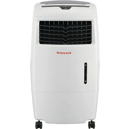 Honeywell CL25AE 500 CFM 300 sq. ft. Indoor Portable Evaporative Air Cooler (Swamp Cooler) with Remote Control, White