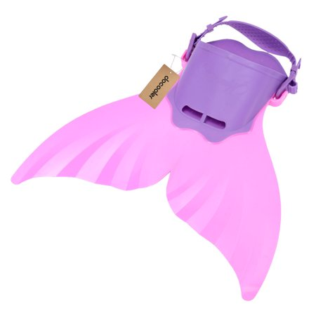 Docooler Kid Children Mermaid Swim Fin Diving Monofin Swimming Foot Flipper ()