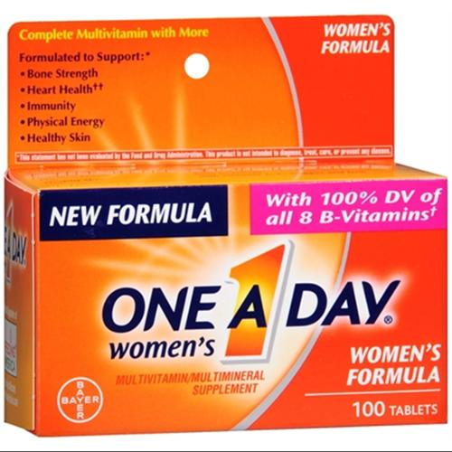One-A-Day Women's Tablets 100 Tablets (Pack of 2)
