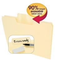 Smead Erasable SuperTab Folders 1/3 Cut Manila 24/PK Letter (10380)