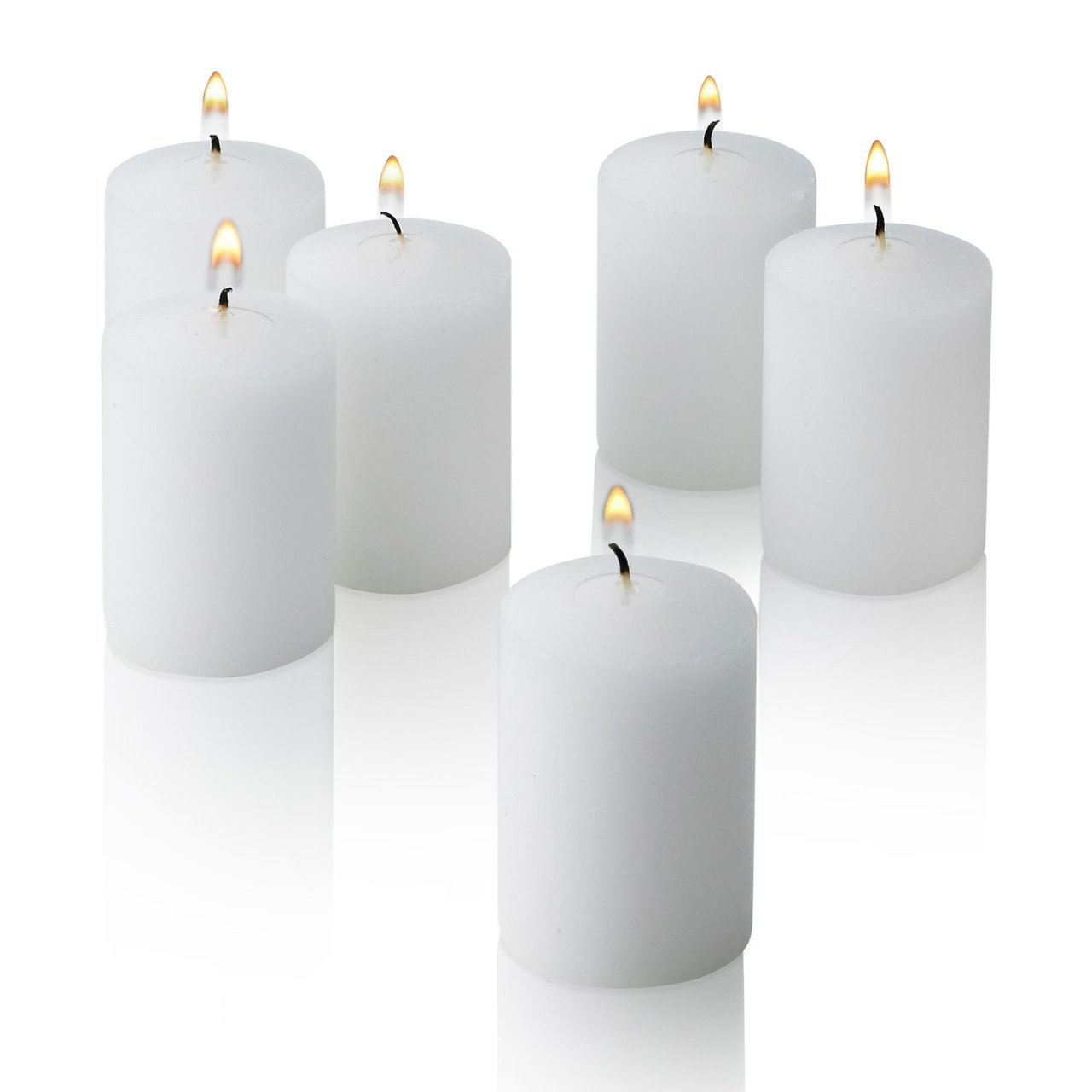 D'light Online 15 Hour Unscented White Emergency Bulk Votive Candles set of 36 by