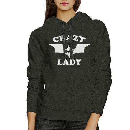 Crazy Bat Lady Dark Grey Pullover Hoodie Cute Graphic Sweat Hoody