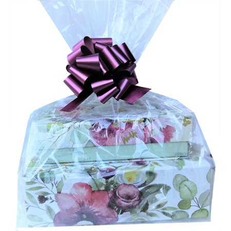 10 Clear Cello / cellophane Bags -  Large Gift Basket bag 20x25 inch
