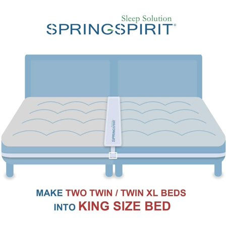 Springspirit Bed Bridge Twin To King, 2 Twin Beds Together Make A King